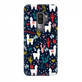 Galaxy S9 plus  Cute Alpaca and Cactus by
