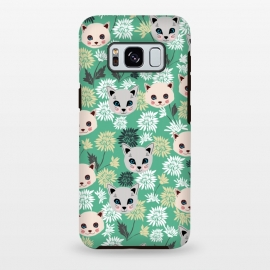 Galaxy S8 plus  Cute Cats and Flowers by