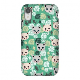 iPhone Xr  Cute Cats and Flowers by