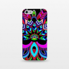 iPhone 5/5E/5s  Mandala art henna design decorative multicolour red doodling phone case by