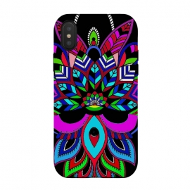 Mandala art henna design decorative multicolour red doodling phone case by Josie George