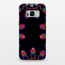 Galaxy S8 plus  Black mandal art henna art doodling phonecase by