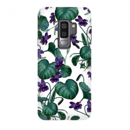 Galaxy S9 plus  Violets by  (floral, pattern, exotic, violets, tropical, nature, 2016, may, june)