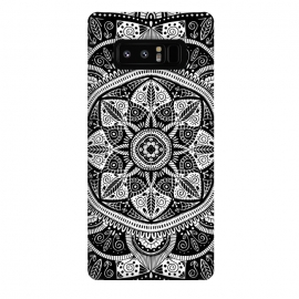 Galaxy Note 8  Black and White Mandala 011 by