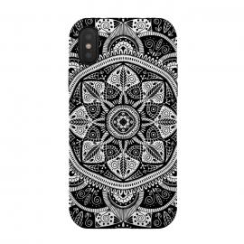 iPhone Xs / X  Black and White Mandala 011 by