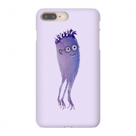 Geek Jellyfish Funny Monster With Glasses Watercolor by Boriana Giormova