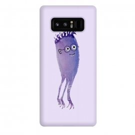 Galaxy Note 8  Geek Jellyfish Funny Monster With Glasses Watercolor by