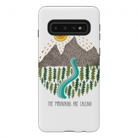Mountains Are Calling by Pom Graphic Design (travel, mountains,river,trees,adventure)