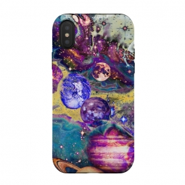 iPhone Xs / X  Psychedelic vibrant space explosion by