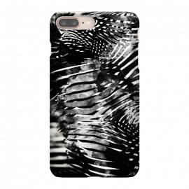 Zebra stripes black and white ink animal print by Oana