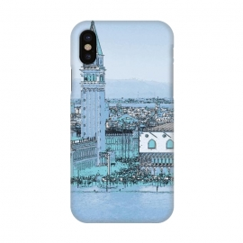 iPhone X  Painted watercolor Venice San Marco Square by