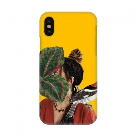iPhone X  Girl with the bird by