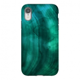 iPhone Xr  Emerald Ink Marble Texture by
