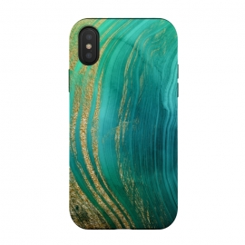 Green and Teal Gold Marble  by DaDo ART