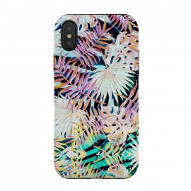 Multicolor painted tropical leaves by Oana