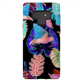 Galaxy Note 9  Colorful parrot and tropical leaves by