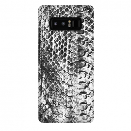 Galaxy Note 8  Black and white ink snake skin animal print by