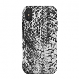Black and white ink snake skin animal print by Oana