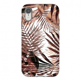 iPhone Xr  Golden brown tropical leaves by