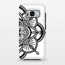 Galaxy S8 plus  Black and White Mandala  by