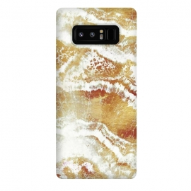 Galaxy Note 8  Golden foil marble art by