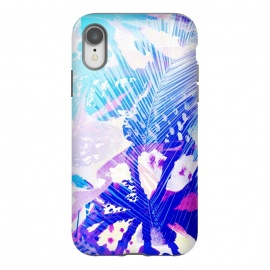 iPhone Xr  Tropical palm and ficus leaves gradient painting by