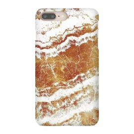 iPhone 8/7 plus  gold agate marble waves by