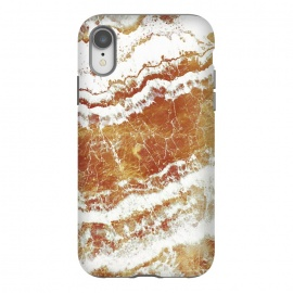 iPhone Xr  gold agate marble waves by
