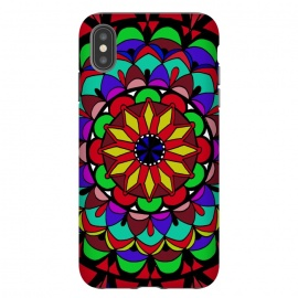 Decorative doodling henna art designer phonecase mandala colorful art phonecase by Josie George