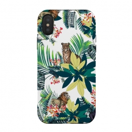 Tropical leaves and jungle animals  by Oana