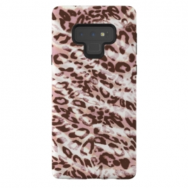 Galaxy Note 9  brushed pink grungy leopard print spots by