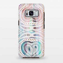 Galaxy S8 plus  Ethnic pastel paisley doodles by