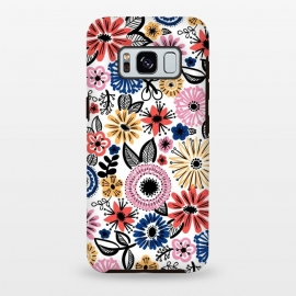 Galaxy S8 plus  Floral by  (Floral,flowers,doodle,pattern)