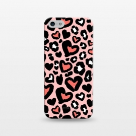 iPhone 5/5E/5s  Love leopard by  (leopard,animal,love,heart,animalprint)