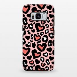 Galaxy S8 plus  Love leopard by  (leopard,animal,love,heart,animalprint)