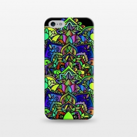 iPhone 5/5E/5s  Designer green yelow colorful mandala design jewel artwork henna design by