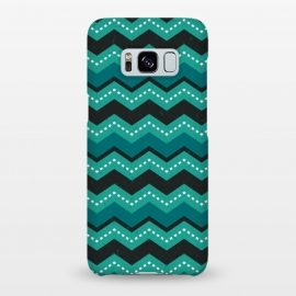 Chevron Stripes - Teal and Mint by Daisy Beatrice