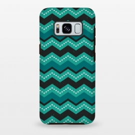 Galaxy S8 plus  Chevron Stripes - Teal and Mint by