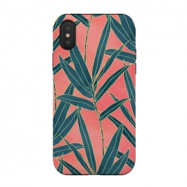 Modern coral and blue foliage design  by InovArts