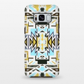 Galaxy S8 plus  Colorful African tiki geometric pattern by