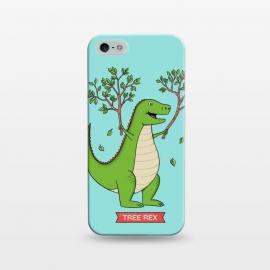iPhone 5/5E/5s  Tree Rex Blue Version by  (dinosaur,dinosaurs,t rex,t-rex,fun,funny,humor,cute,reptil,animal,animals,animal lover,pet art,jurassic,tree,nature)