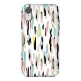 iPhone Xr  Colorful brushed watercolor playful pattern by
