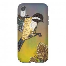 iPhone Xr  Coal Tit and Teasels by