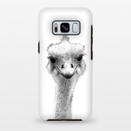 Galaxy S8 plus  Black and White Ostrich by