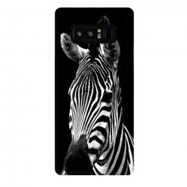 Galaxy Note 8  Black and White Zebra Black Background by