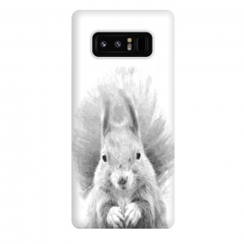 Galaxy Note 8  Black and White Squirrel by