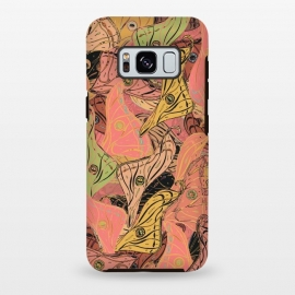 Galaxy S8 plus  Boho Butterfly Wings in Coral and Yellow by