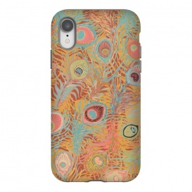 iPhone Xr  Peacock Feathers - Soft Coral by