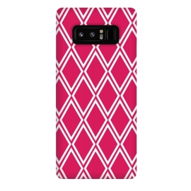 Galaxy Note 8  Pink Diamonds Pattern by  (for her,for bff,for sister,feminine,pink,graphic,geometric,modern,vintage,retro,diamonds,abstract,pattern)