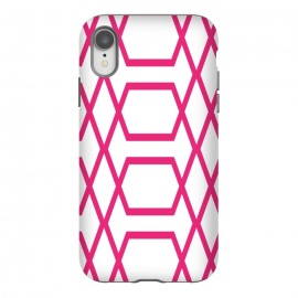 iPhone Xr  Pink Graphic by  (abstract,graphic,geometric,modern,vintage,pattern,pink,for her,for bff,feminine,elegant,stylish)